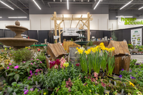 Flowers being showcased at the home and garden show